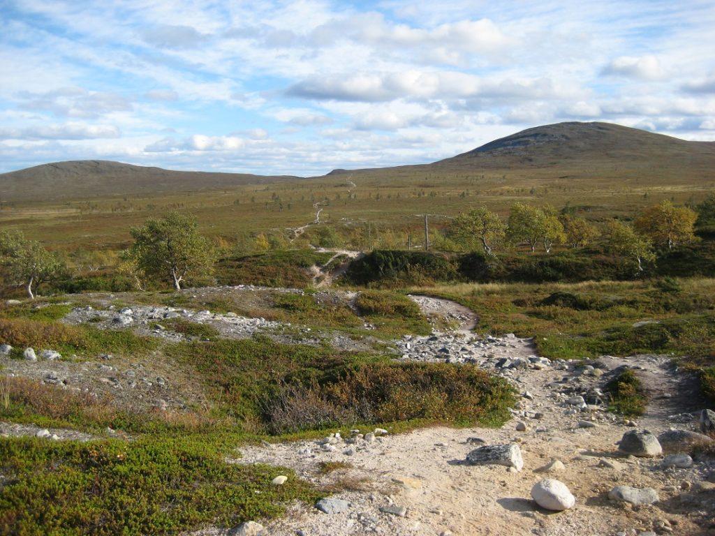 Hetta-Pallas -klassikkoreitillä syksyllä 2013. 55 km:n vaelluksella sain ihailla pohjoisen maisemia kolme päivää.