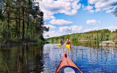 Kolme helteistä päivää Isojärven kansallispuistossa meloen ja patikoiden