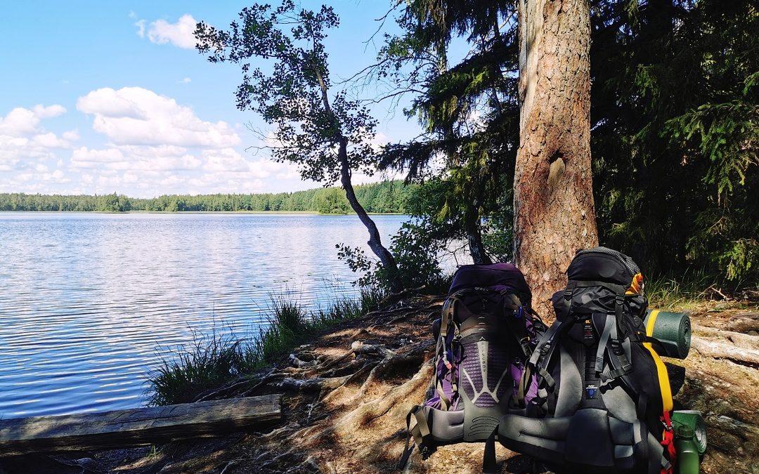 Heinäkuun lämpöä ja viilentäviä vesiä – kolme ihanaa patikointipäivää Liesjärven kansallispuistossa